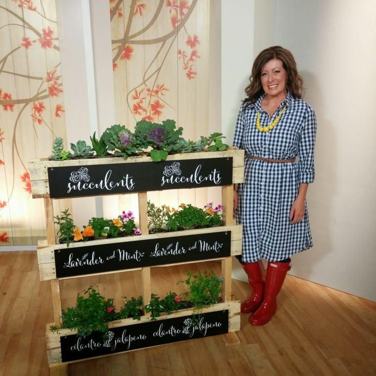 jardin vertical con palets chierbas aromaticas suculentas