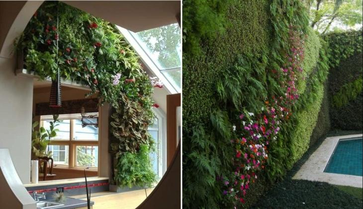 vertical garden functional design spaces lamps