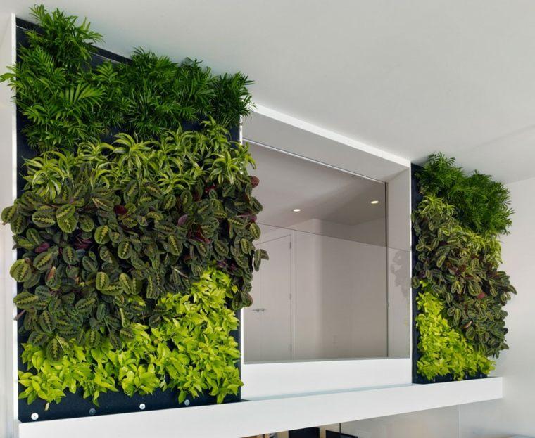 jardin vertical interior frecuencias colores baño