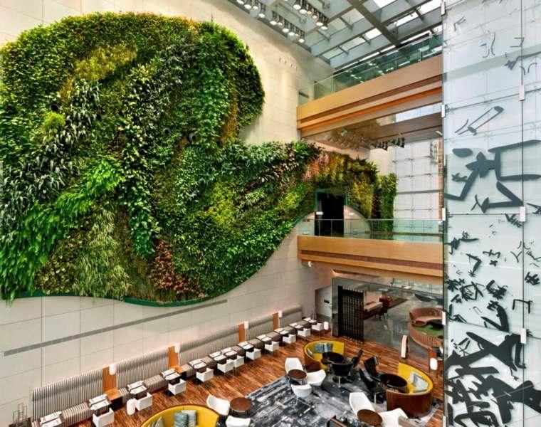 jardin vertical interior mesas comedores frecuencia
