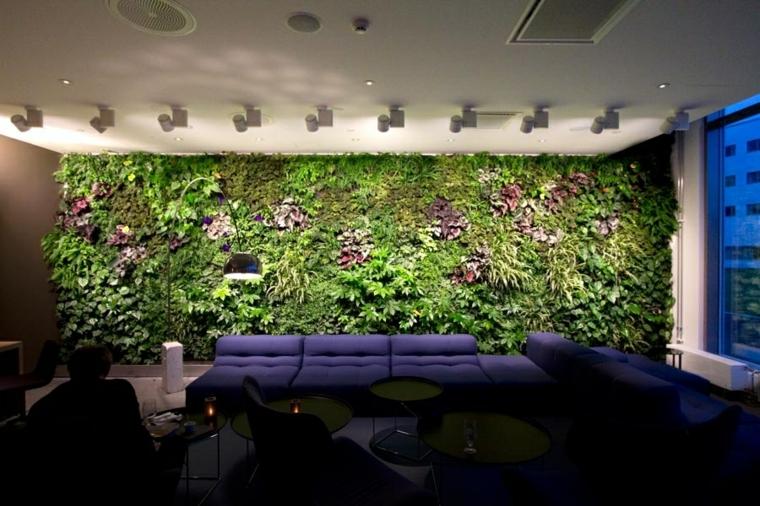 jardin vertical interior oficinas apoyos senderos