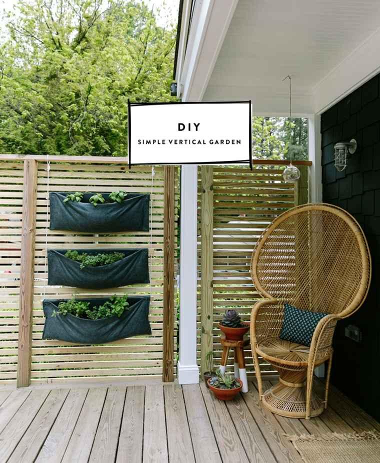 jardin vertical sencillo terraza vallas