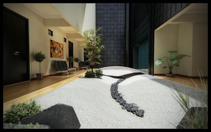 jardin zen interior puertas soluciones lineas