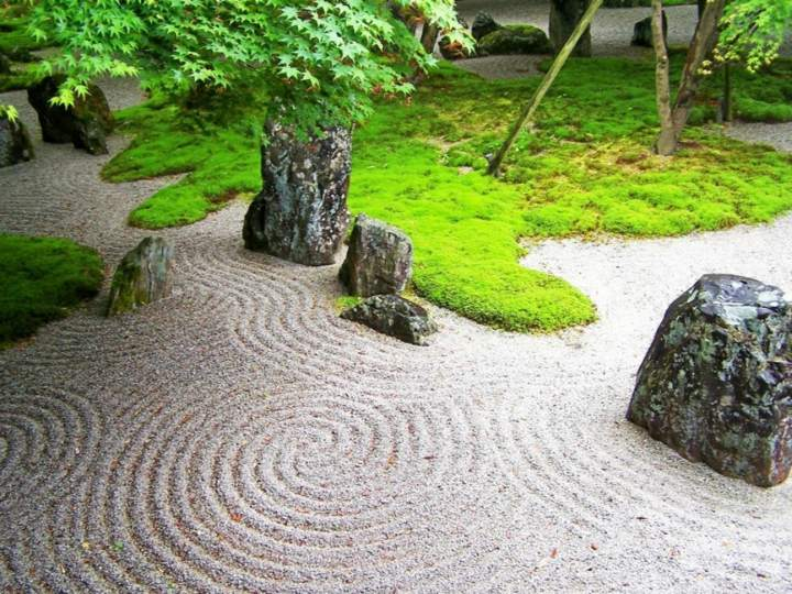 jardin zen meditacion conceptos muebles olas