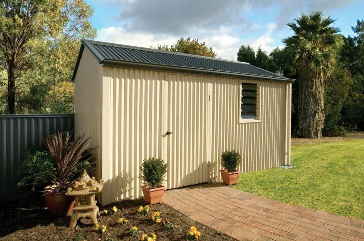 jardines almacenamiento funcional en cobertizos pr cticos On techo plano de resina de jardin cobertizo