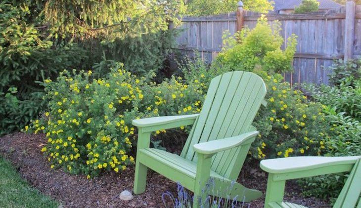jardines arbustos frecuencias mobiliario verde