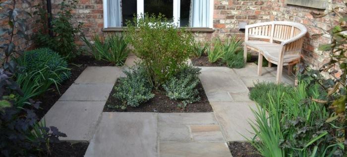 jardines borde diseño delimitar macetas