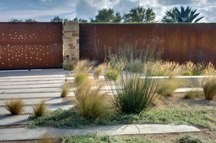 jardines borde efectos muebles columnas