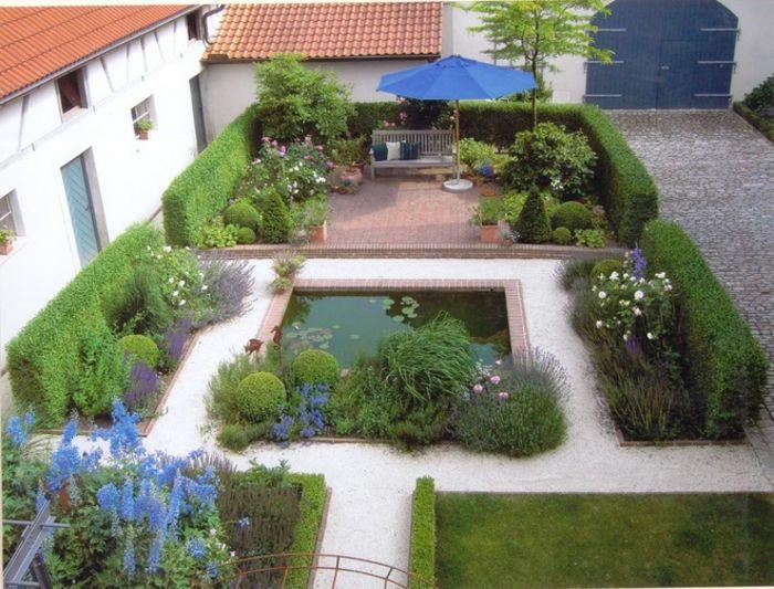 jardines borde elegante paisajismo estanques