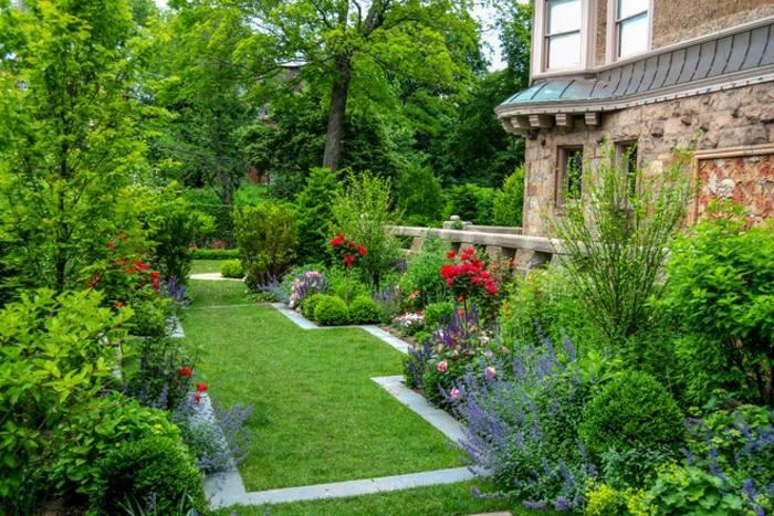 jardines borde espacios madera estanuqe
