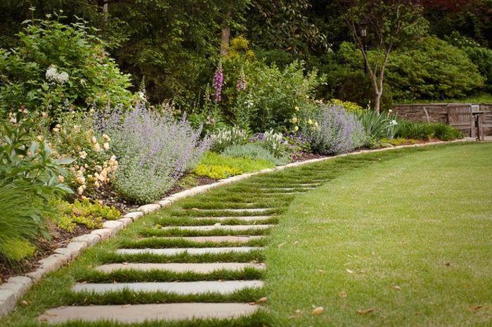 jardines borde estructura casas cemento