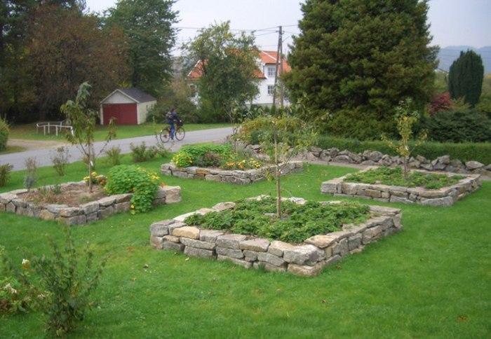 jardines borde materiales hormigon efectos