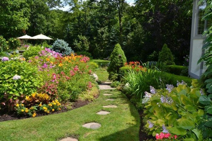 jardines borde muebles condiciones senderos