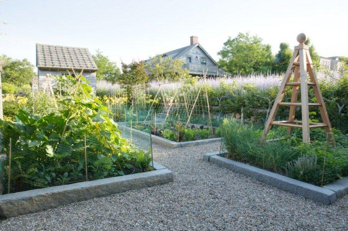 jardines borde muestras exteriores diseño huerto