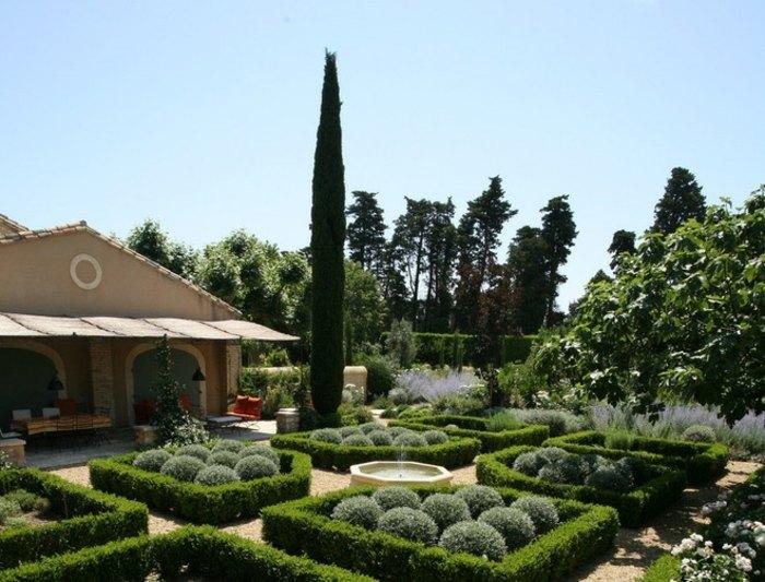 jardines borde sala paredes pinos