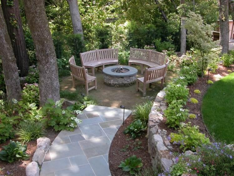 jardines detalles pozos muestras estilos rocas sendros