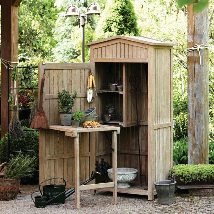 Jardines mobiliario funcional para el almacenamiento for Guarda herramientas para jardin