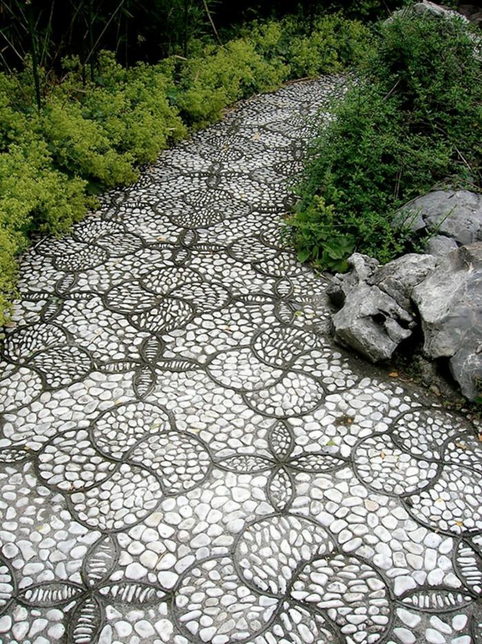 jardines mosaicos efectos atractivos rocas