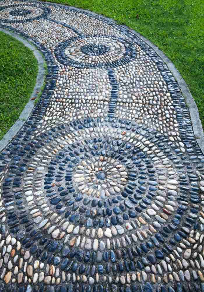 jardines mosaicos verdes entornos senderos