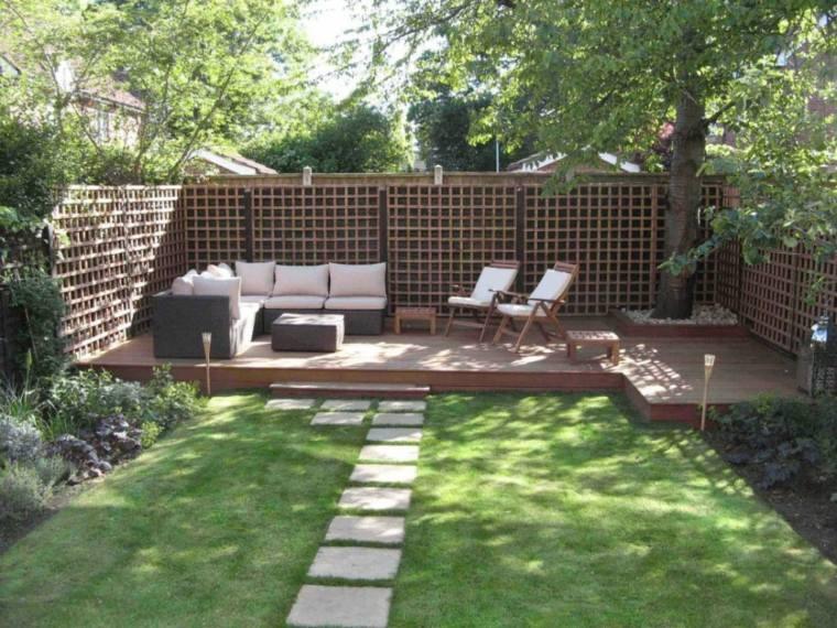 jardines pequeños plataformas madera