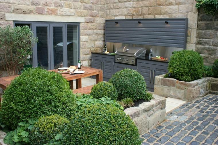 jardines modernos cocinas groumet