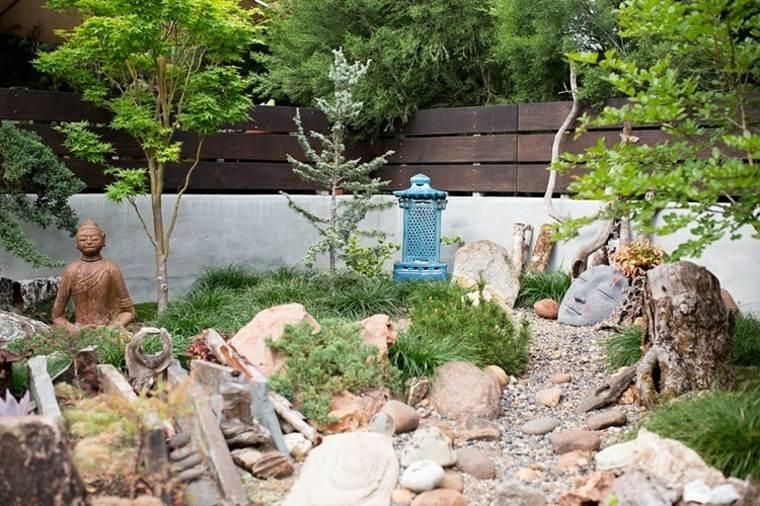 jardines estilo zen deco rocas