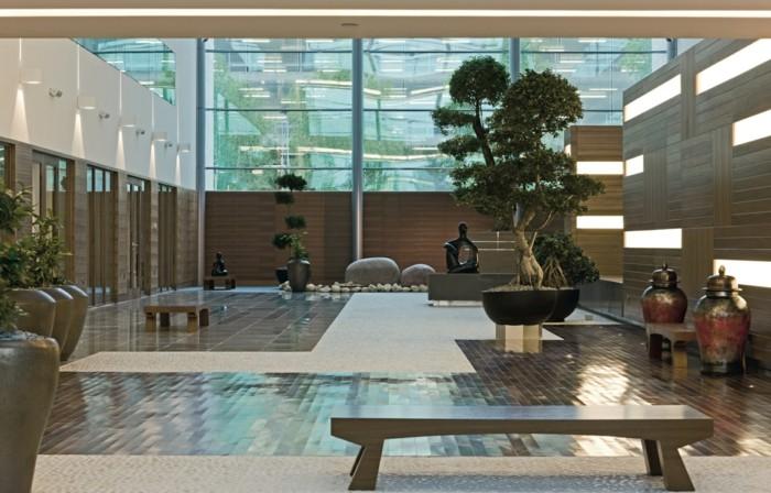 jarrones estables muebles sillones plantas