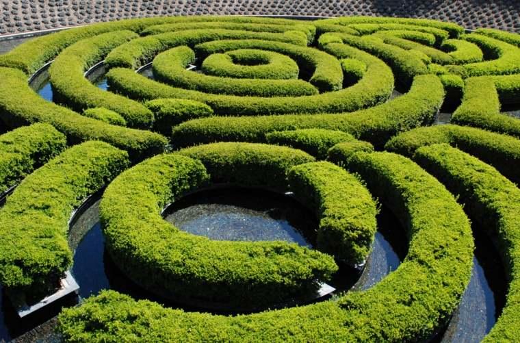 diseño laberinto en el jardin