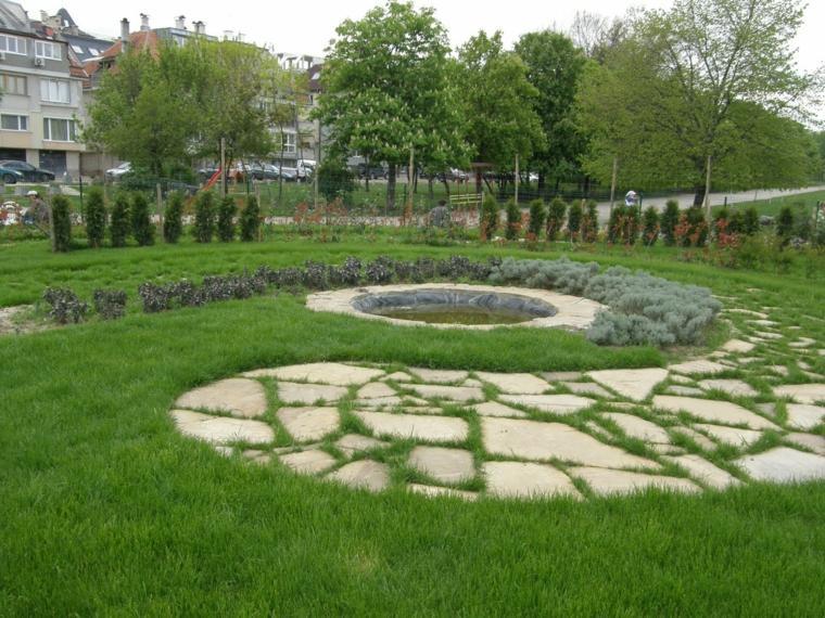 laberintos decorativo suelo jardin