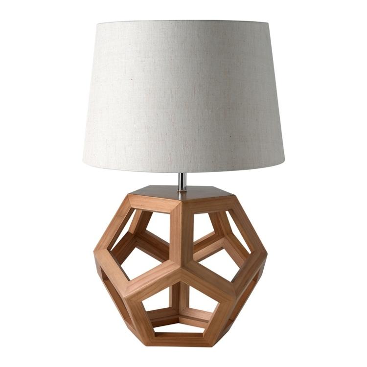 lamparas el corte ingles madera natural telas