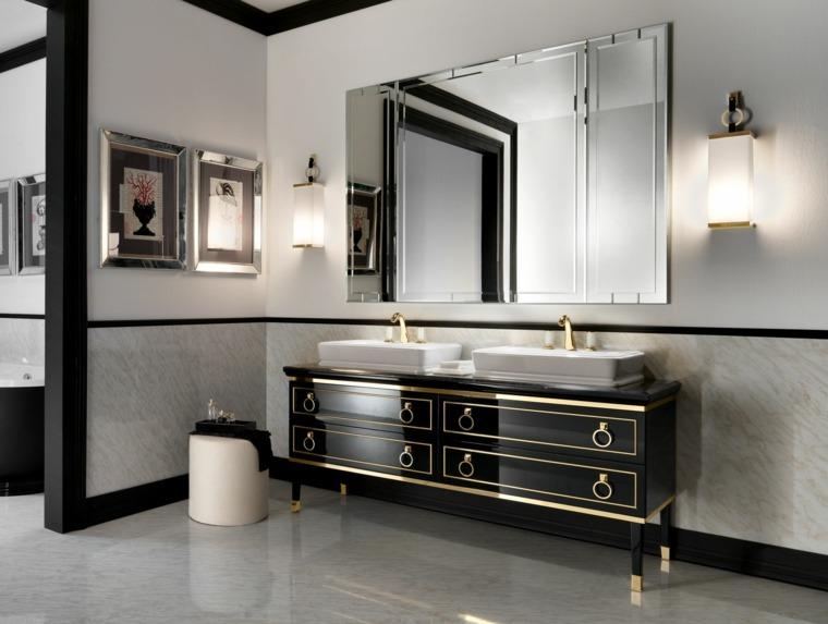 lavabo bano diseno clasico italiano negro grande ideas
