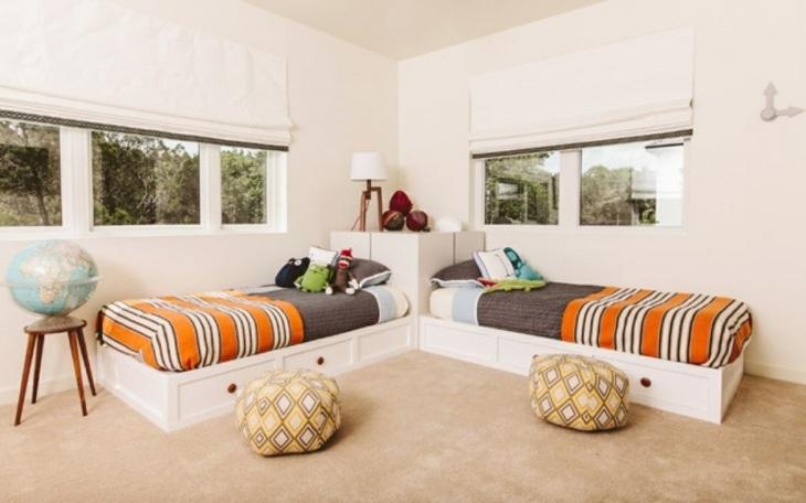 lineas habitaciones conceptos gemelos lamparas