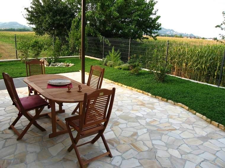 lugar comidas cesped jardin pequeno casa ideas