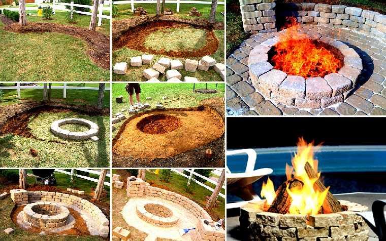 lugar fuego pozo creatividad lujo jardin ideas
