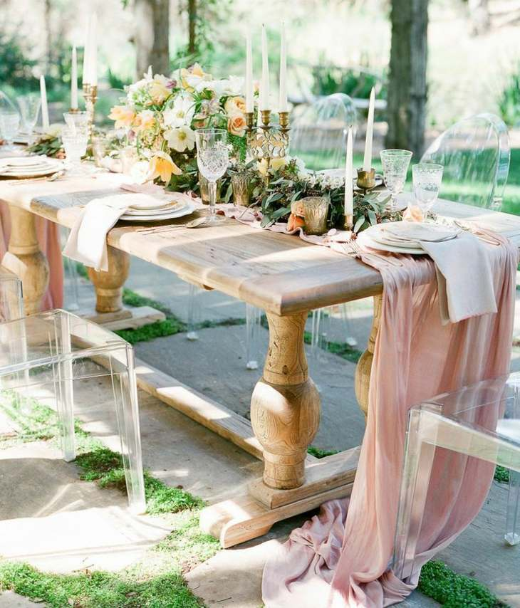 madera elegantes sencillas naturales manteles