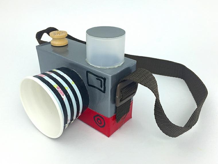 manualidades ninos camera vaso caja carton ideas