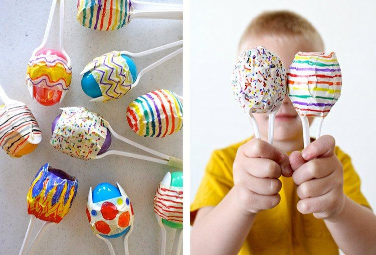 manualidades para ninos faciles huevos pascua ideas