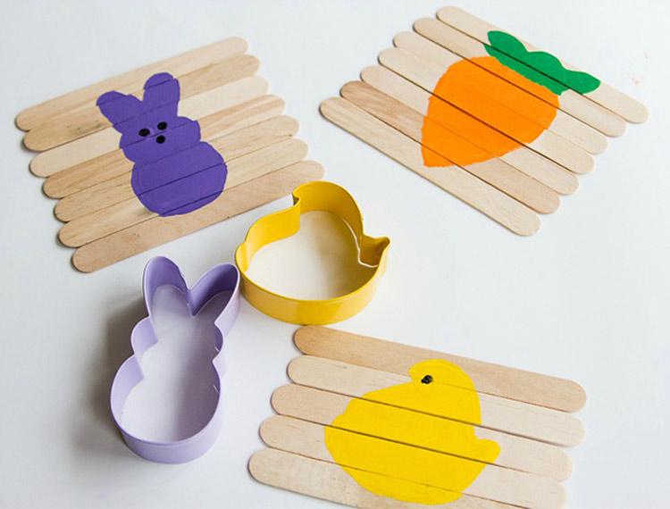 manualidades para ninos faciles puzle palitos ideas - Manualidades Faciles Para Nios