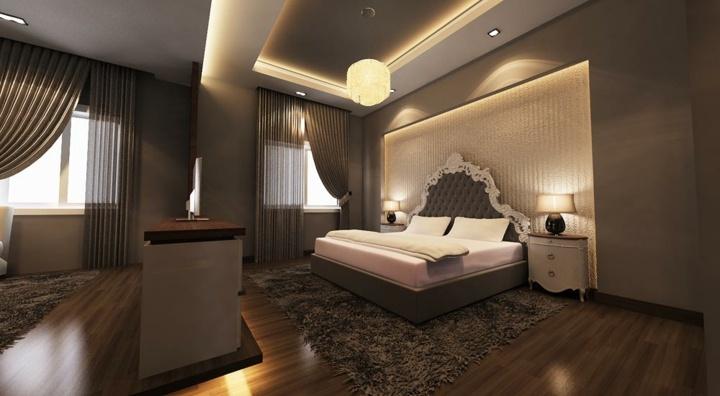 marrones calida estilo natural cortinas