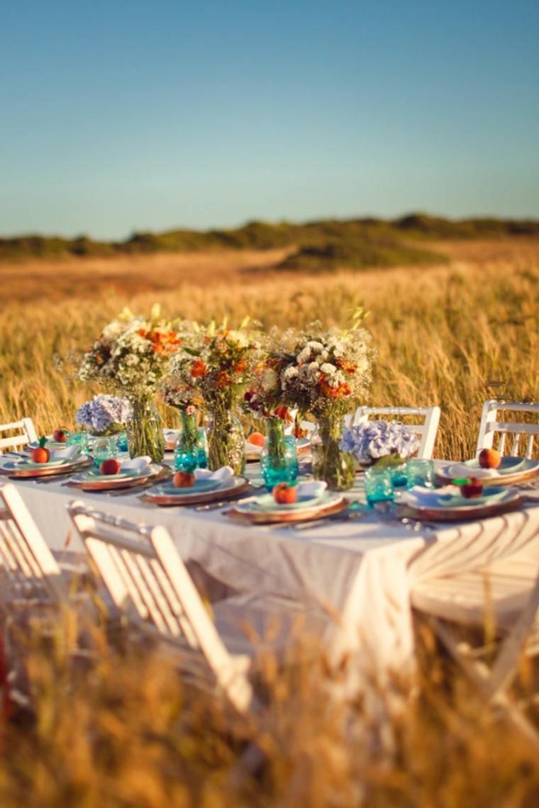 Decoracion para bodas en verano cuarenta y dos ideas - Mesas de campo ...