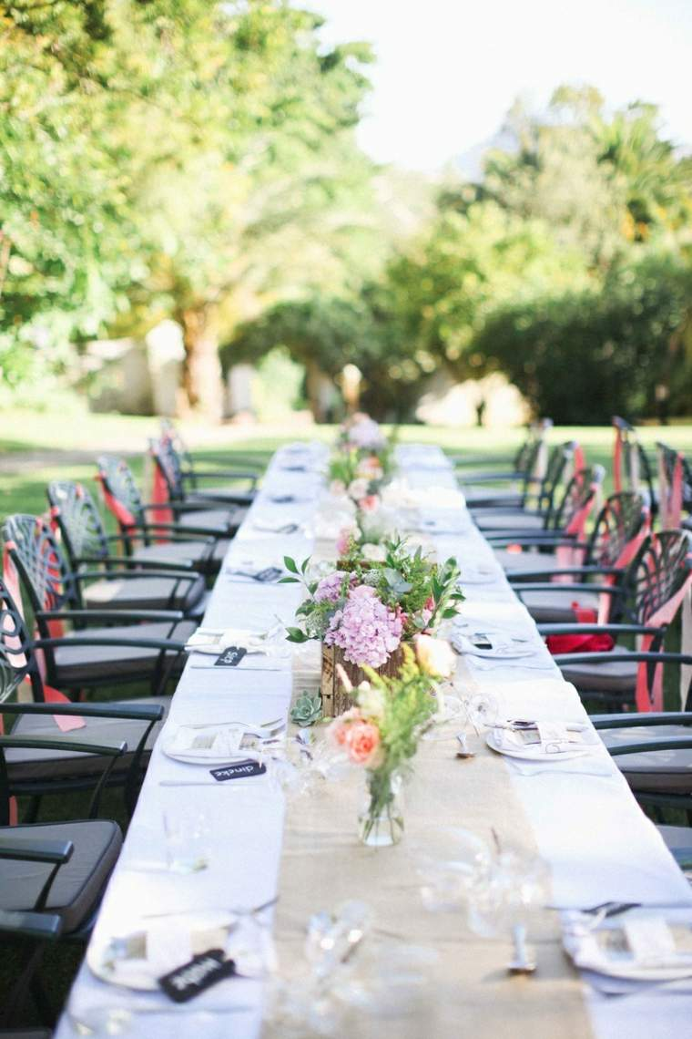 mesa boda decoracin jardin