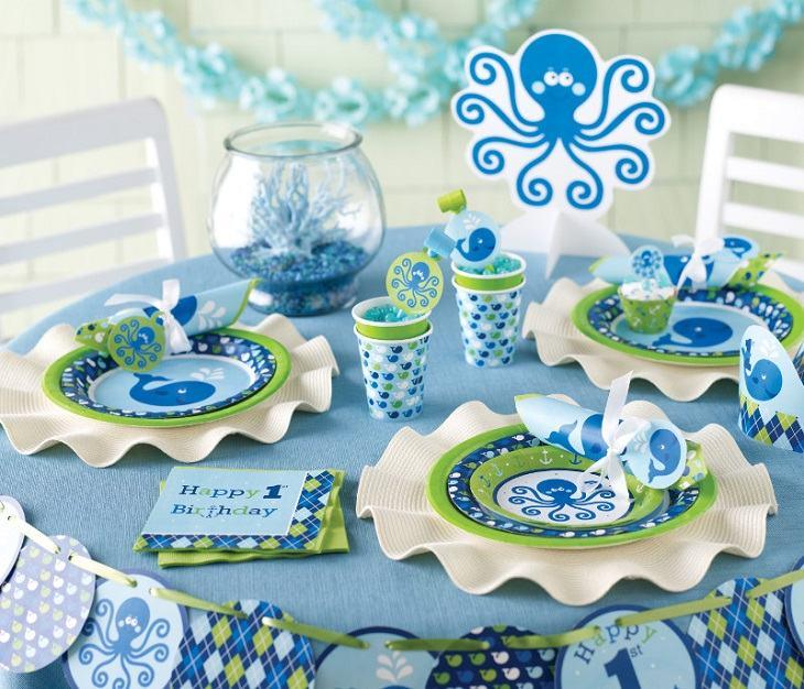ideas decoracion cumpleaños estilo marino mesas
