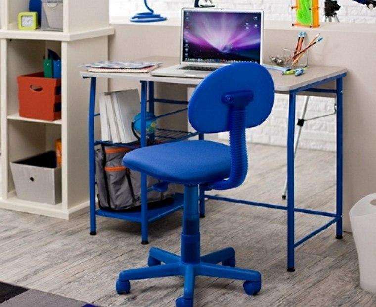 mesa escritorio patas azules