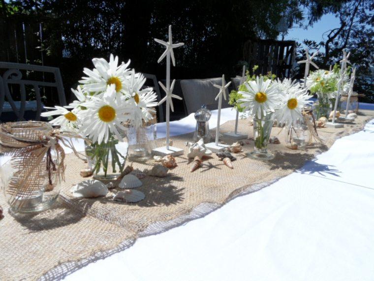mesa moderna decoración verano