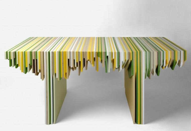mesa paneles corian colores reciclados