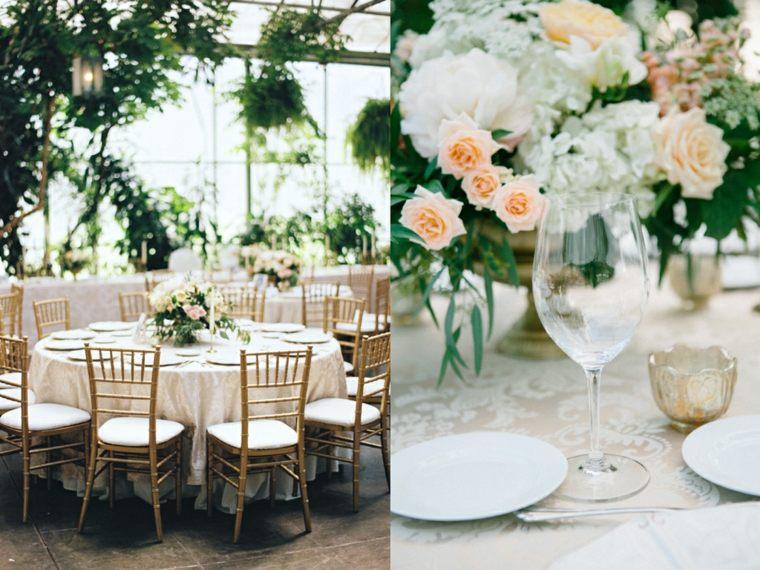 mesas boda deco verano rosas
