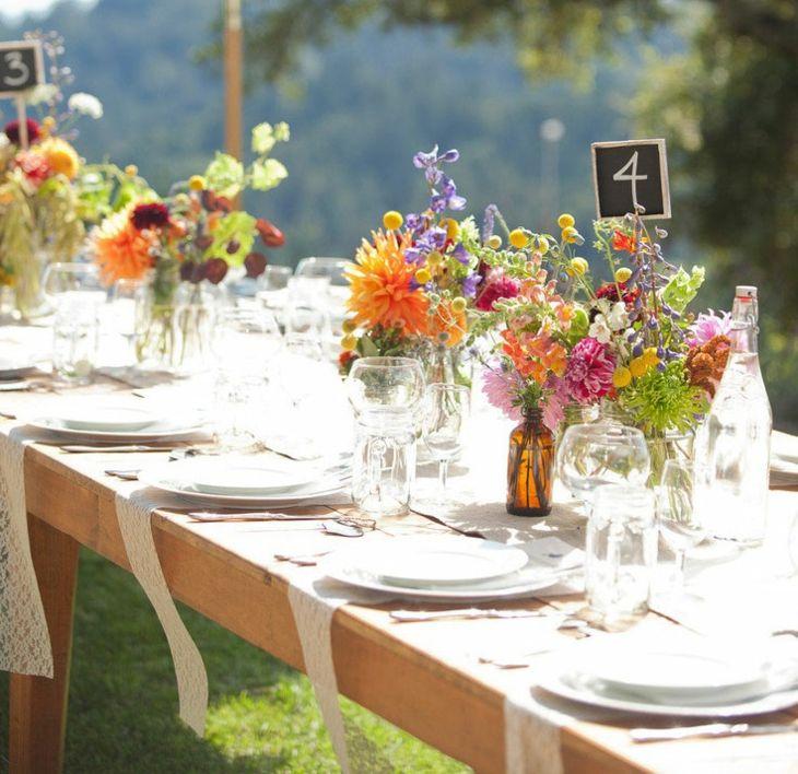 mesas de jardin decoracion eventos naturales funciones