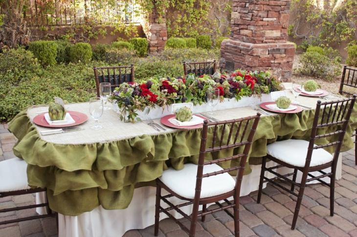 mesas de jardin decoracion mobiliario efectos manteles