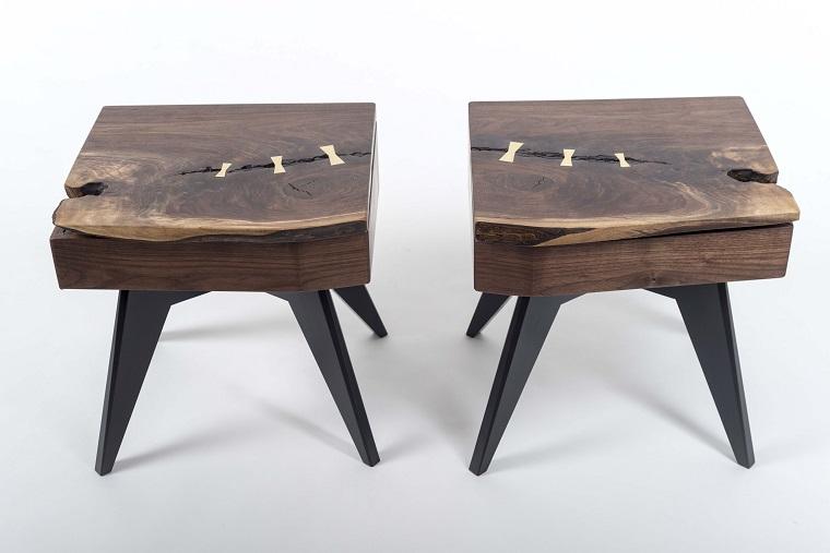 mesas originales madera superficie bajas