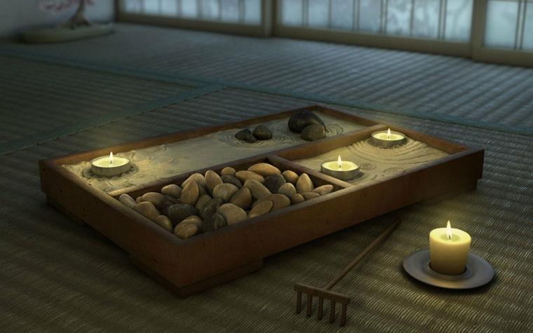 mini jardin zen rocas